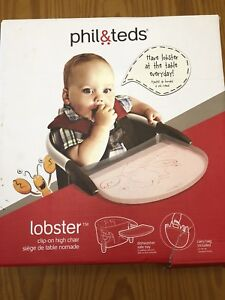 "Phil&Teds ""lobster"" clip on high chair"