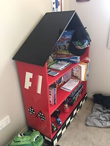 Moving sale, Racing car book shelf Roxburgh Park Hume Area Preview