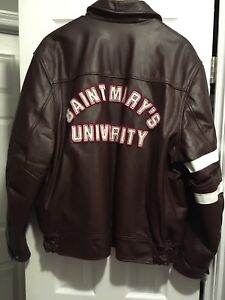 Vintage Saint Marys University leather jacket