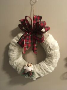 Unique faux fur wreaths