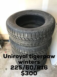 Uniroyal tigerpaw winters 225/60/R16