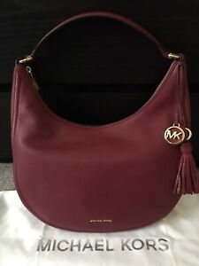 7525f7d404a7 Authentic Michael Kors Lydia Mulberry Red Hobo Bag