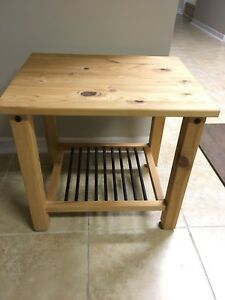 Ikea wooden nightstand or side table