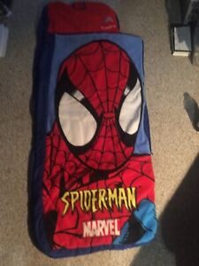 Spider-Man Sleeping Bag, Puzzle and 2 Books - $30.00