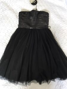 NEW Black Strapless Short Tulle Prom or Party Dress