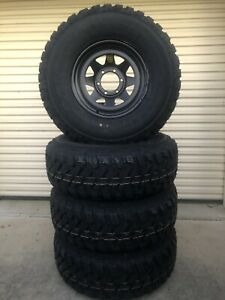 Brand new 285/75R16 muds on brand new 16x8's Black wheels Caboolture Caboolture Area Preview