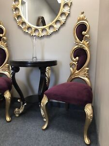 2 solid wood accent chairs