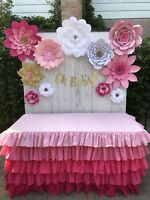 Backdrop table decor