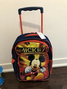 Mickey Mouse rolling luggage backpack brand new