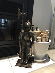 Vintage Novelty Knight in Armour Fire Set