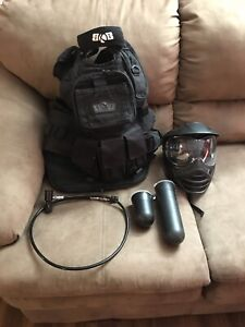 Paint ball vest, neck guard ,mask and some other accessories