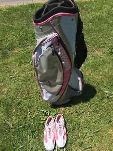 Golf bag and Golf shoes