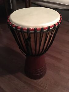 Beautiful African Djembe with cover