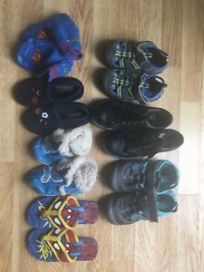 Lot of shoes sandals and slippers