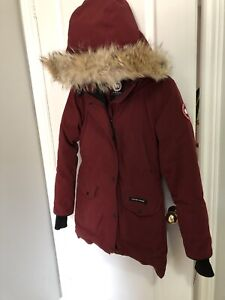 Size Small Canada Goose Burgundy Long Jacket