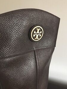 Authentic tory burch long boots pure leather