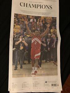NBA Champions TORONTO RAPTORS Newspapers- Sun, Star, Globe