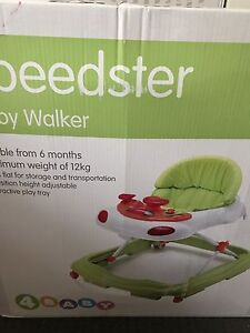 Baby walker & musical cot mobile $80 Queens Park Canning Area Preview