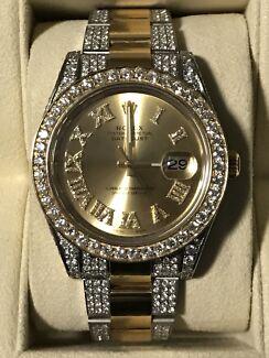 2017 Rolex DateJust Two Tone 18KT Diamond Watch