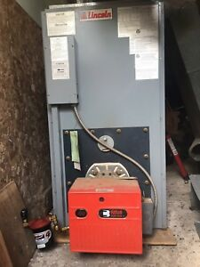 Lincoln oil furnace, duct work, and stainless flue for sale.