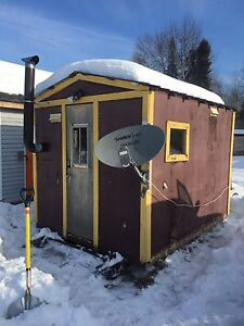Ice shack hut   8x12 and outhouse