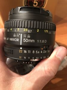 Nikon Nikkor 50 mm 1.8 D Lens - Great Condition