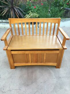 Kids Wooden Bench Seat with storagewooden bench in Melbourne Region  VIC   Gumtree Australia Free  . Outdoor Bench Seats Gumtree. Home Design Ideas