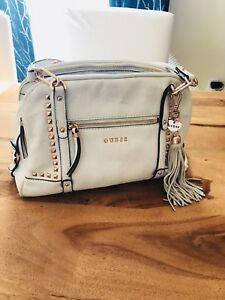GUESS white leather purse