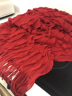 Mercer and Reid luxury collection red Throw blanket rug
