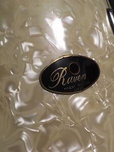 "Vintage 1960's Raven MIJ ""White Marine Pearl"" 4-Piece Kit"