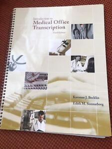 Introduction to Medical Office Transcription - 3rd Edition