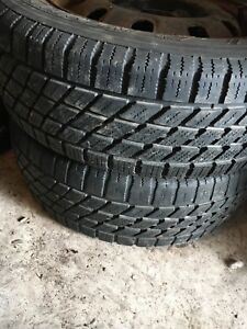 185/65/R14  two snow tires with rims