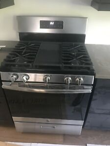 New GE Gas Stove stainless steel