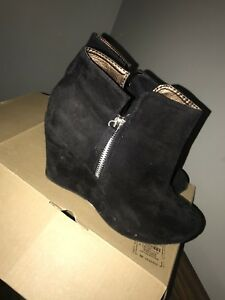 Black ankle wedges size 11 $30