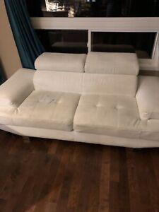 Whit colour sofa set