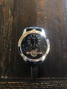 Fossil rose gold men's grant twist automatic watch