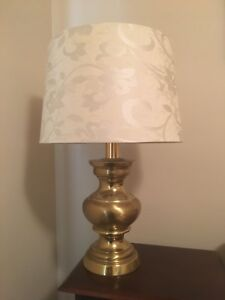 Set of Two Solid Brass Lamps - $180