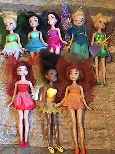 Tinkerbell Barbie dolls and friends