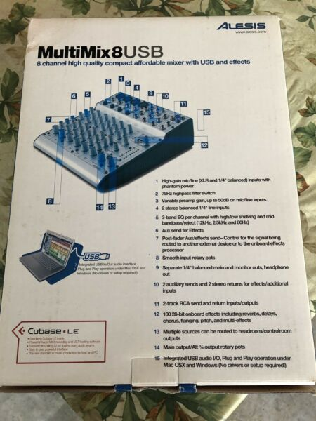Alesis MultiMix 8 USB | Pro Audio & Recording Equipment | Cornwall | Kijiji