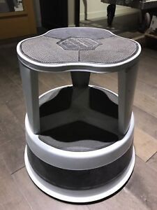Rolling round step stool perfect for store or home