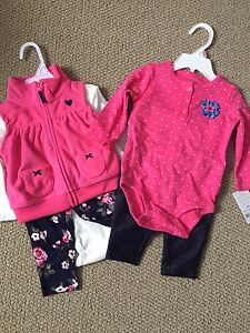 Baby girl Carter's outfits NWT