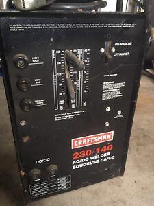 Craftsman 230/140 AC/DC welder