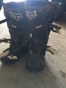 Fox dirt biking boots