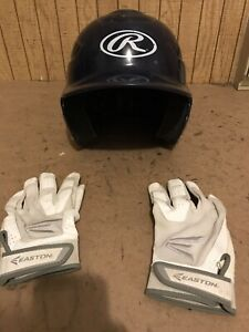 Batting Helmet and Gloves