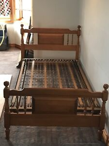 Twin bed with heavy duty frame