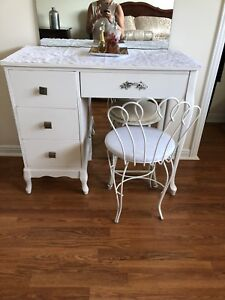 VANITY TABLE AND STOOL $150
