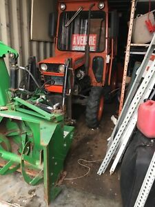 KUBOTA SNOWBLOWER EXTEND REAR BLADE CABIN DIESEL HIGH WHEEL
