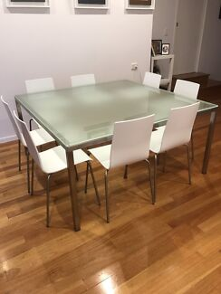 Square Dining TableGlass TopDining TablesGumtree