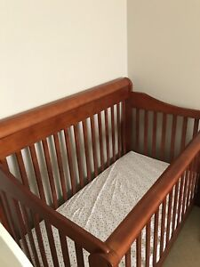 Solid wooden covertible Crib