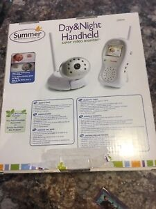 Color baby video monitor - day and night handheld